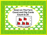 Farm Animals Count and Clip Task Cards