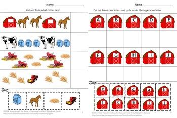Farm, Farm Alphabet Activities, Farm Math Centers,Special Education Kindergarten
