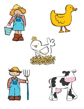 Down On the Farm File Folder Games for Preschool/Kindergarten