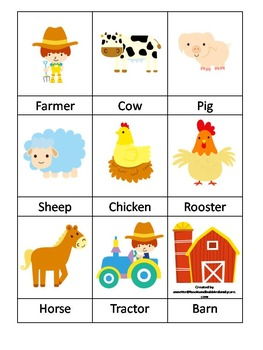 Down On the Farm preschool curriculum package. Great for daycare and homeschool.