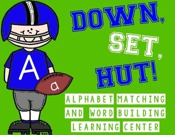 Alphabet & Word Building Center | Football | Word Work Activity | Writing Center