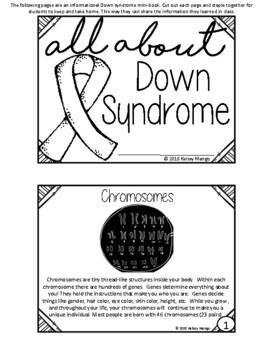 Down Syndrome Awareness(World Down Syndrome Day) 3rd- 5th