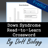 Down Syndrome Read-to-Learn/ Crossword