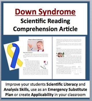 Down Syndrome - Science Reading Article