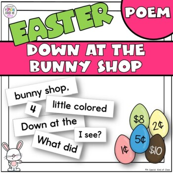 Down at the bunny shop pocket chart