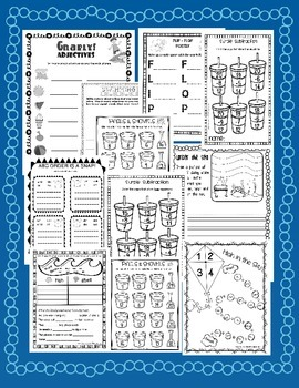 OCEAN UNIT - DOWN BY THE BAY {NO PREP & LITERACY / MATH CENTERS COMBO UNIT}