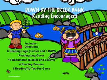 Down by the Creek Bank - Reading Logs, Bookmarks & More