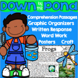 Down by the Pond Reading Comprehension and Activities - Di