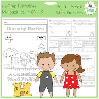 Down by the Sea Addition and Subtraction Word Problems for K.OA 2.0