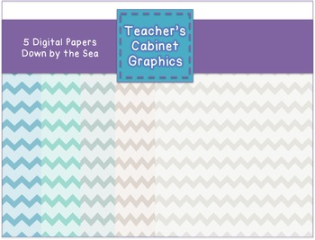 Down by the Sea Chevron Papers {Teacher's Cabinet Graphics}