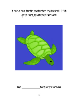 Down in the Ocean-Interactive/Adapted Book