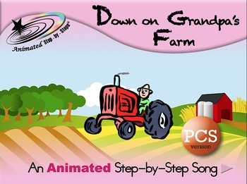 Down on Grandpa's Farm - Animated Step-by-Step Song - PCS