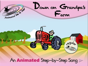 Down on Grandpa's Farm - Animated Step-by-Step Song - Regular