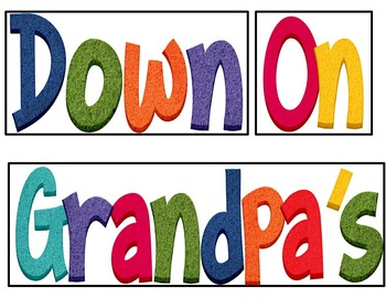 Down on Grandpa's Farm (Song and Pocket Chart Activity)