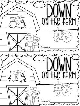 Down on the Farm Emergent Reader