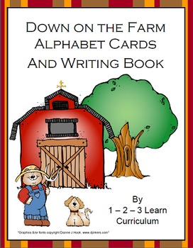 Down on the Farm Alphabet Cards and Writing Book