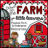 Down on the Farm Math and Literacy Notebook