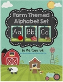 Down on the Farm Alphabet Card Set Farm Theme Alphabet Farm Animals