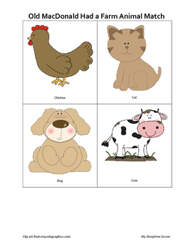 Down on the Farm Animal Cards