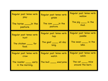 Down on the Farm Articulation, Grammar, and Vocabulary Game