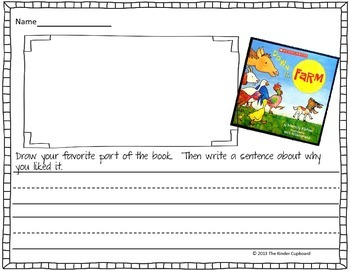 Down on the Farm { Book Response Forms}