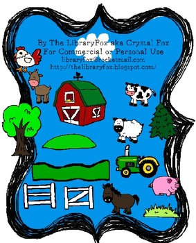 Down on the Farm Clip Art Set Farm Animals and Accessories