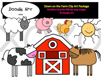 Down on the Farm Clipart Pack