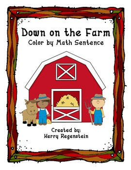 Down on the Farm- Color by Math Sentence