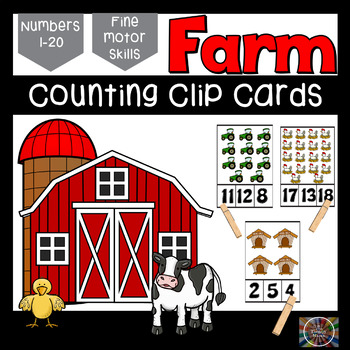 Farm Clothespin Number Clip Cards