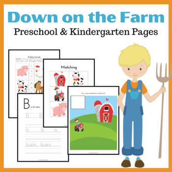 Down on the Farm Early Learning Activities