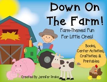 Down on the Farm!  Farm Themed ELA & Math Activities & Cen