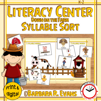 SYLLABLES: Syllable Sort, Syllable Activity, Syllables, Li