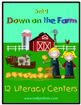 Down on the Farm Literacy Centers: Half-Pint Readers Set 9