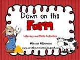 Down on the Farm Literacy and Math Activities