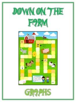 Down on the Farm Math Folder Game - Common Core - Using Graphs & Data