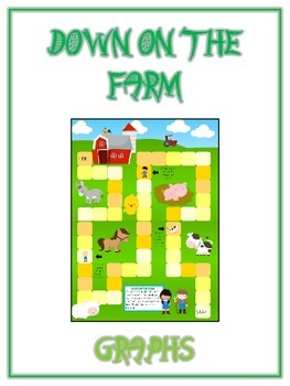 Down on the Farm Math Folder Game - Common Core - Using Gr