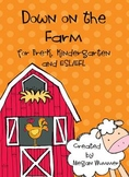 Down on the Farm Math & Literacy Pack for Pre-K, Kindergar