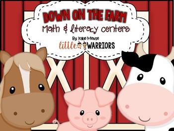 Farm Math and Literacy Centers