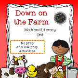 Down on the Farm! Math and Literacy Unit