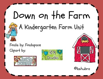 Down on the Farm Packet - Literacy