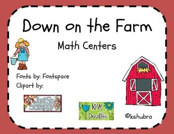 Down on the Farm Packet - Math