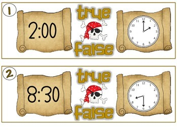 Shiver Me Timbers - Telling Time to the Hour and Half Hour