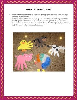 Down on the Farm Preschool Multi-Sensory Unit (6 Lessons)