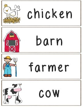 Down on the Farm Preschool/Kindergarten Unit Supplements