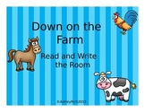 Down on the Farm Read and Write the Room