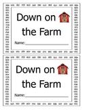 Down on the Farm Reader