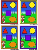 Down on the Farm Shapes Match Dice Game