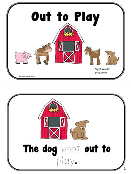 Down on the Farm Sight Word Books -- Set of 5 Emergent Readers
