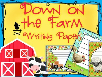 Down on the Farm Themed Writing Paper - Literacy - Writing Centers