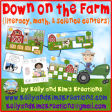 Down on the Farm! {literacy, math, & science centers)
